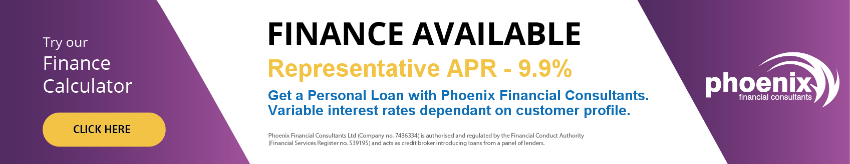 Finance available through Phoenix.